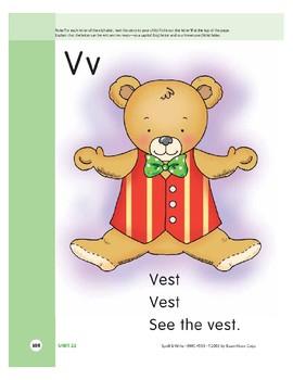 Letter Vv (Vest)