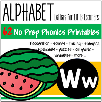 Alphabet W Letter of the Week Phonics Recognition, Sound, Tracing & Craftivities