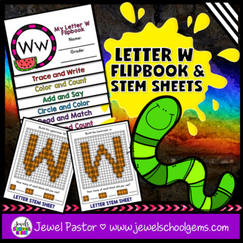 Letter W Alphabet Flip Book (Alphabet Interactive Notebook Activities)