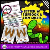 Letter W Alphabet Flip Book (Alphabet Interactive Notebook