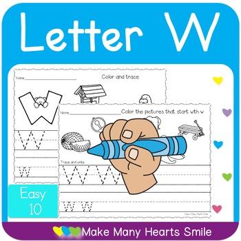 Easy 10: Letter W