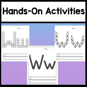 Letter W Activities {Letter W Book and 5 Letter W Worksheets!}
