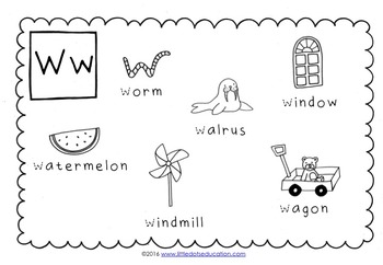 Letter W Activities and Worksheets