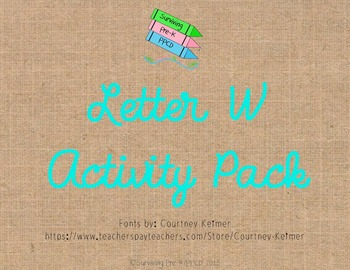 Letter W Activity Pack