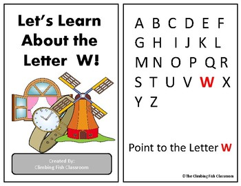Letter 'W' Adapted Book
