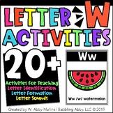 Letter W Alphabet Activities
