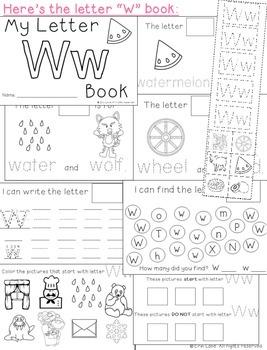 Letter W: Alphabet Activity Book
