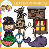 Letter W Alphabet Beginning Sounds Clip Art