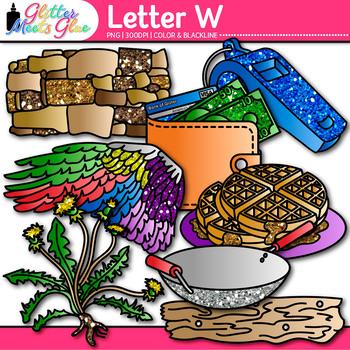 Letter W Alphabet Clip Art {Teach Phonics, Recognition, and Identification}