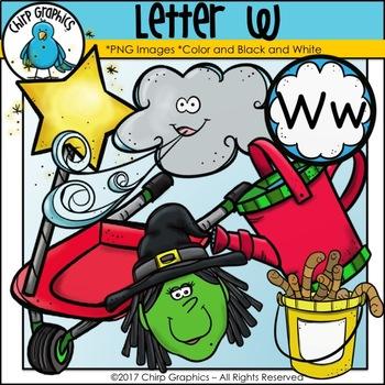 Letter W Alphabet Clip Art Set - Chirp Graphics