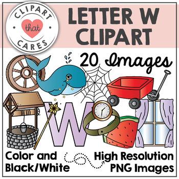 Letter W Alphabet Clipart by Clipart That Cares