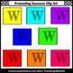 Alphabet Letter W Clipart, Beginning Sounds Clip Art,  SPS