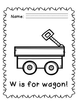 Letter W Alphabet Packet