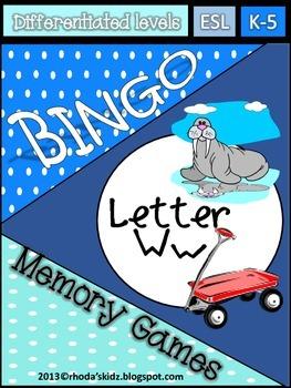 Letter W Bingo