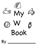 Letter W Book (Handwriting, Letter)