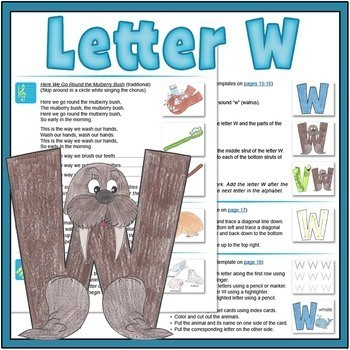 Letter W Bundle: 1 Week Of Complete Curriculum Lessons