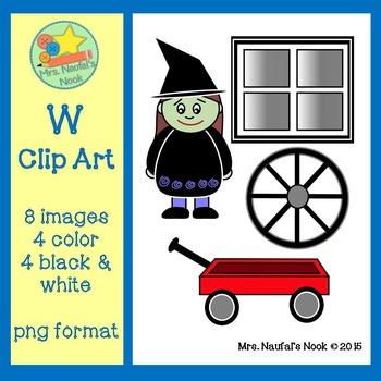 Letter W Alphabet Clip Art