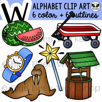 Letter W Clip Art Alphabet / Beginning Sound W