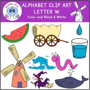 Letter W Clip Art {Beginning Sounds} Alphabet