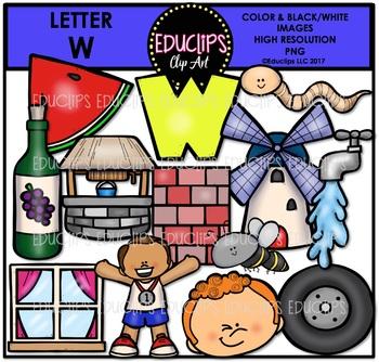 Letter W Clip Art Bundle {Educlips Clipart}