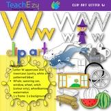 Letter W Clip Art Pack