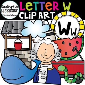 Letter W Clipart {Alphabet Clip art}
