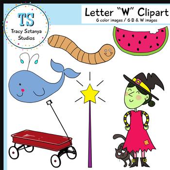 "Letter ""W"" Clipart Set {Tracy Sztanya Studios}"