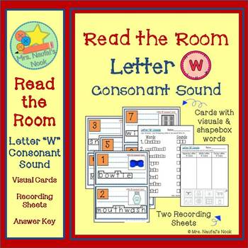 Letter W Consonant Sound Read the Room
