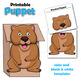 Letter W Craft - Paper Bag Puppet Wombat