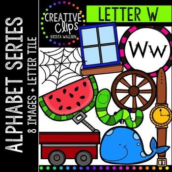 Letter W {Creative Clips Digital Clipart}