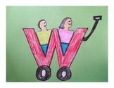 Letter W Cut/Paste Craft Template - W is for Wagon!