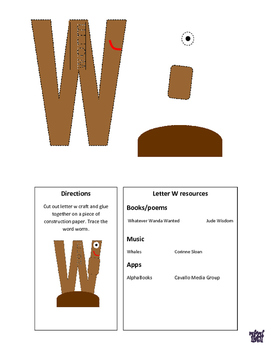 Letter W Cutout Craft