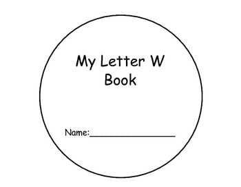 Letter W Interactive Reader