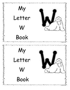 Letter W Little Reader/Book