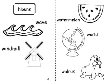 Letter W Non Fiction Book and Grammar Sort
