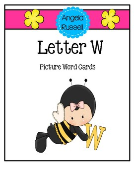 Letter W - Picture Word Cards
