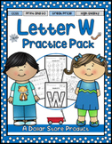 Letter W Practice Printables