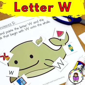 Letter W- Print and Go Letter of the Week lessons