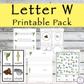 Letter W Printable Pack
