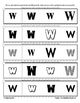 Letter W Reading Discrimination Strips for Fluency and Rec