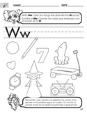 Letter W Sound worksheet with Instructions translated into