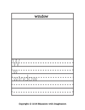 Letter W Story and Writing Activities
