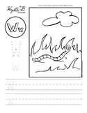 Letter W Trace and Write Worksheet Pack