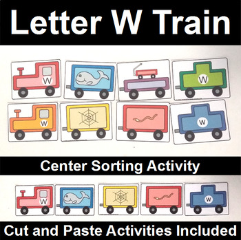Letter W Train by The Connett Connection | Teachers Pay Teachers
