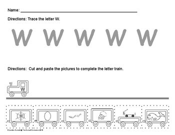 Letter W Train