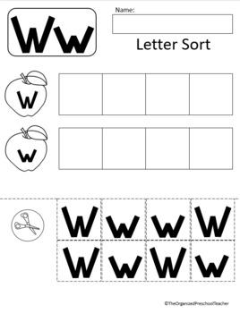 Letter W Unit