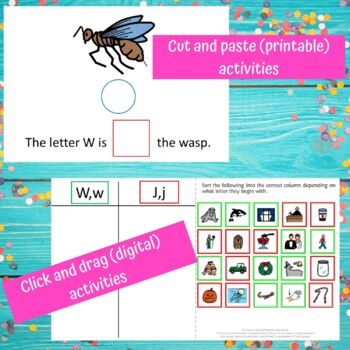 Letter of the Week Letter W Unit for Special Education