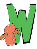 Letter W Vocabulary Cards
