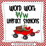 Letter W Word Work Literacy Stations and Centers