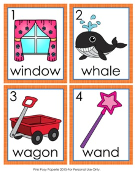 Letter W Words Write the Room Activity by Pink Posy ...